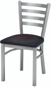Grand Rapids Chair 501 Melissa Anne Steel Chair with Wood Seat