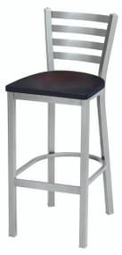 Grand Rapids Chair 501BS Melissa Anne Steel Barstool with Wood Seat