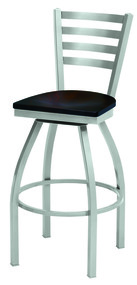 Grand Rapids Chair 6501BS Melissa Anne Steel Swivel Barstool with Wood Seat