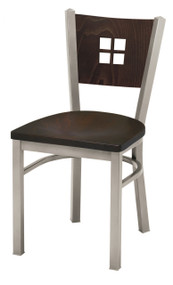 Grand Rapids Chair 504 Melissa Anne Steel Chair with Wood Seat and Back