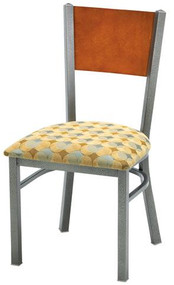 Grand Rapids Chair 574 Mama Melissa Steel Wide Chair With Upholstered Seat and Wood Back