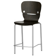 """Grand Rapids Chair 990BS Felix 18"""" Wood Upholstered Seat Smile Barstool"""