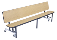 National Public Seating CBG96PC Convertible Bench Cafeteria Table Powder Coat Frame 8 Foot