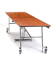 National Public Seating MT8CR Mobile Fixed Height Rectangle Cafeteria Table Chrome Frame with no Seats 8 Foot