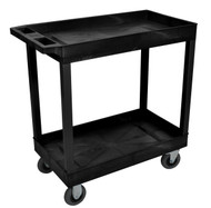 Luxor EC11SP5 32 x 18 Cart - Two Tub Shelf with 5 inch Casters