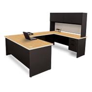 Marvel PRNT59 Pronto U Shaped Desk with Flipper Door Unit 8.6x6 Feet
