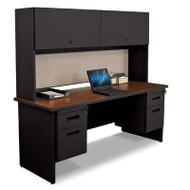 Marvel PRNT7 Pronto 72 Inch Double File Desk Credenza Including Flipper Door Cabinet