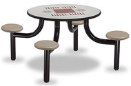 Norix Furniture MX4200-4GT Max Master 4 Seat Game Top Round Table