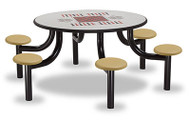 Norix Furniture MX5400-6GT Max Master 6 Seat Round Game Top Table