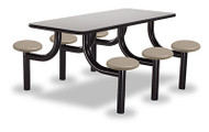 Norix Furniture MX3072-6PT Max Master 6 Seat Rectangle Table
