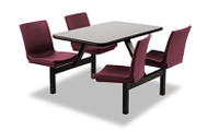 Norix Furniture OT3072PT-FX Oasis Cafeteria ADA Table with Fixed Seat 30x72