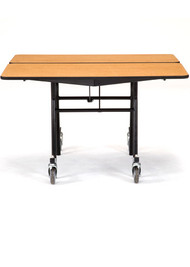 National Public Seating MT48QPC Mobile Fixed Height Square Cafeteria Table Powder Coat Frame with No Seats 4 Foot