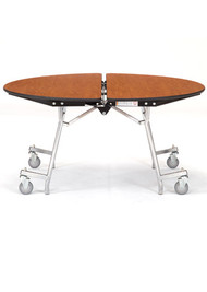 National Public Seating MT48RCR Mobile Fixed Height Round Cafeteria Table Chrome Frame with No Seats 4 Foot