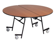MT48RPC Mobile Fixed Height Round Cafeteria Table Powder Coat Frame with No Seats 8 Foot