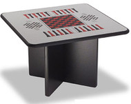 Norix Furniture XB3636GT Square X Base Game Top Table 36x36
