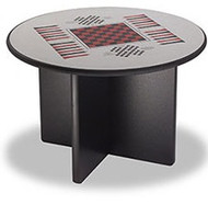 Norix Furniture XB4800GT Round X Base Game Top Table 48 Inches
