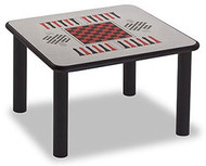 Norix Furniture LB4242GT Square Leg Style Game Top Table 42x42