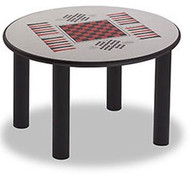 Norix Furniture LB4800GT Round Leg Style Game Top Table 48 Inches