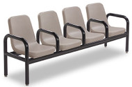 Norix Furniture C214-4 Four Boulder Beam Seating with End and Divider Arms