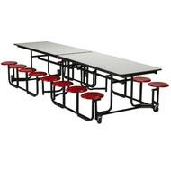 KI Uniframe UF128 Rectangular Stool Cafeteria Table 30 x 139