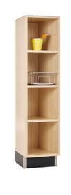 Diversified CC-1215-51M One Section Cubby Cabinet 12W x 15D x 51H Maple