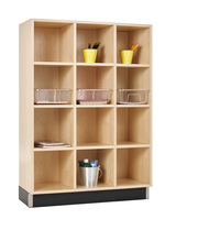 Diversified CC-3615-51M Three Section Cubby Cabinet 36W x 15D x 51H Maple