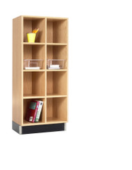 Diversified CC-2415-51K Two Section Cubby Cabinet 24W x 15D x 51H Oak