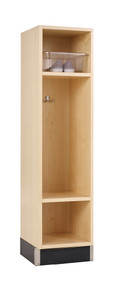 Diversified BP-1215-51M One Section Maple Backpack Lockers 12 W x 15 D x 51 H