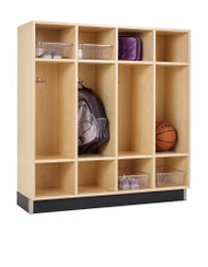 Diversified BP-4815-51M Four Section Maple Backpack Lockers 48 W x 15 D x 51 H