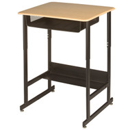 Capitol Seating 491 Standup Sit down Student Desk with Book Box