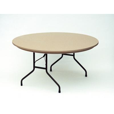 correll r6024 blow molded plastic folding table fixed height 60 round mocha granite - Plastic Folding Tables