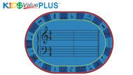 96.99 Value Plus Oval A-Sharp Music Rug 8 x 12