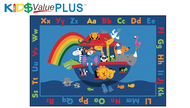 72.96 Value Plus Rectangle Noah's Alphabet Animals Rug 6 x 9
