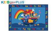 96.96 Value Plus Rectangle Noah's Alphabet Animals Rug 8 x 12