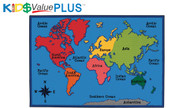 Carpets for Kids 72.86 Value Plus Rectangle World Map Rug 6 x 9