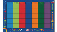 5634 Premium Collection Rectangle Calendar Celebrations 8 ft 4 in x 13 ft 4 in