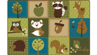 22726 Premium Collection Natures Friends Toddler Rug 6 x 9
