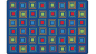 4116 Premium Collection Primary Squares Rug 6 x 9