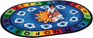 Carpets for Kids 9495 Premium Collection Oval Sunny Day Learn and Play Rug 6 x 9