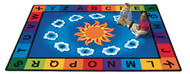 9401 Premium Collection Rectangle Sunny Day Learn and Play Rug 4 x 5