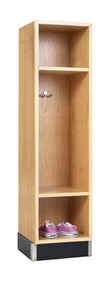 Diversified BP-1215-51K One Section Backpack Locker 12W x 15D x 51H Oak