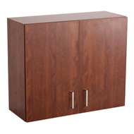 Safco 1700MH Hospitality Wall Cabinet Mahogany Door & Side Panels