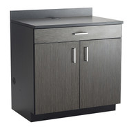 Safco 1701AN Hospitality Base Cabinet, One Drawer/ Two Door Asian Night