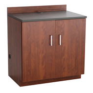Safco 1702MH Hospitality Base Cabinet Two Door Mahogany