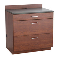 Safco 1703MH Hospitality Base Cabinet Three Drawer Mahogany