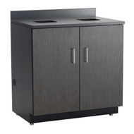 Safco 1704AN Hospitality Base Cabinet Two Door Waste Receptacle Asian Night