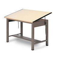 Mayline 7734 Ranger Steel 4 Post Drafting Table 37 x 48