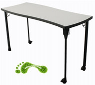 Capitol Seating 0BANNER Interlox Narrow Mobile Two Student Desk 23 x 56