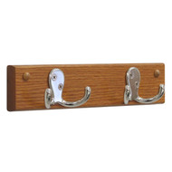 Wooden Mallet HSD2 Coat Rack 2 Double Hooks