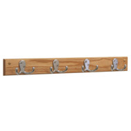 Wooden Mallet HSD4 Coat Rack 4 Double Hooks